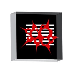 Red, black and white abstract design 4 x 4  Acrylic Photo Blocks