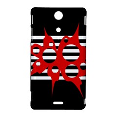 Red, black and white abstract design Sony Xperia TX