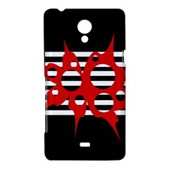 Red, black and white abstract design Sony Xperia T