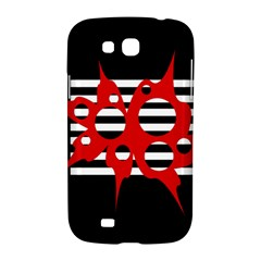 Red, black and white abstract design Samsung Galaxy Grand GT-I9128 Hardshell Case