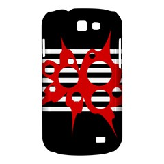 Red, black and white abstract design Samsung Galaxy Express I8730 Hardshell Case