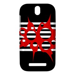 Red, black and white abstract design HTC One SV Hardshell Case