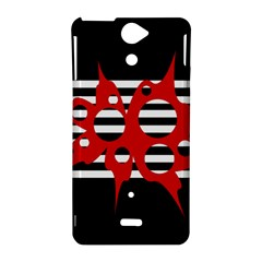 Red, black and white abstract design Sony Xperia V