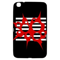 Red, black and white abstract design Samsung Galaxy Tab 3 (8 ) T3100 Hardshell Case