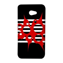 Red, black and white abstract design HTC Butterfly S/HTC 9060 Hardshell Case