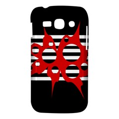 Red, black and white abstract design Samsung Galaxy Ace 3 S7272 Hardshell Case