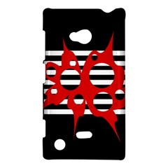 Red, black and white abstract design Nokia Lumia 720