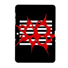 Red, black and white abstract design Samsung Galaxy Tab 2 (10.1 ) P5100 Hardshell Case