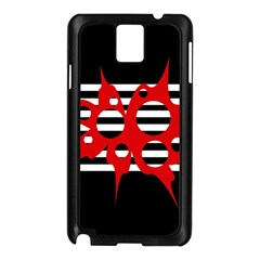 Red, black and white abstract design Samsung Galaxy Note 3 N9005 Case (Black)