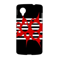 Red, black and white abstract design LG Nexus 5
