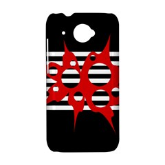 Red, black and white abstract design HTC Desire 601 Hardshell Case