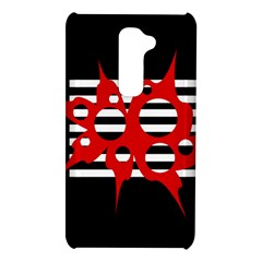 Red, black and white abstract design LG G2