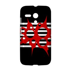 Red, black and white abstract design Motorola Moto G