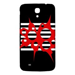 Red, black and white abstract design Samsung Galaxy Mega I9200 Hardshell Back Case