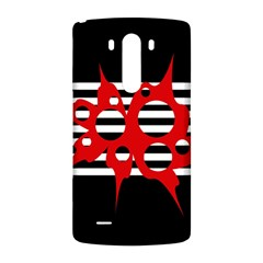 Red, black and white abstract design LG G3 Back Case