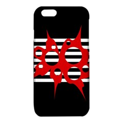 Red, black and white abstract design iPhone 6/6S TPU Case