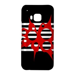 Red, black and white abstract design HTC One M9 Hardshell Case