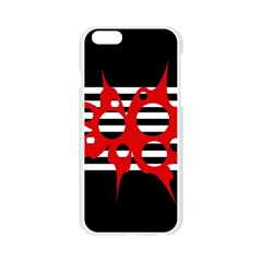 Red, black and white abstract design Apple Seamless iPhone 6/6S Case (Transparent)