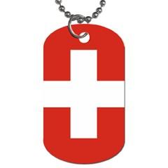 National Flag Of Switzerland Dog Tag (One Side)
