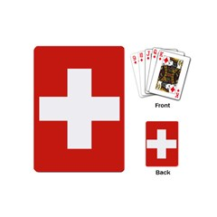 National Flag Of Switzerland Playing Cards (mini)