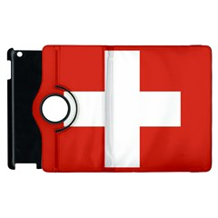 National Flag Of Switzerland Apple iPad 3/4 Flip 360 Case