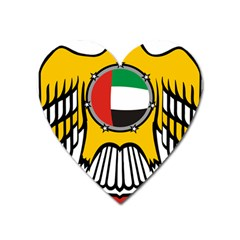 Emblem Of The United Arab Emirates Heart Magnet