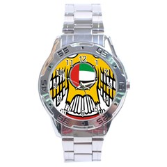 Emblem Of The United Arab Emirates Stainless Steel Analogue Watch