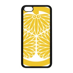 Tokugawa Family Crest Apple iPhone 5C Seamless Case (Black)