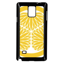 Tokugawa Family Crest Samsung Galaxy Note 4 Case (Black)