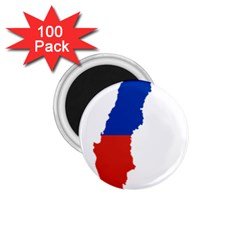Flag Map Of Chile  1.75  Magnets (100 pack)