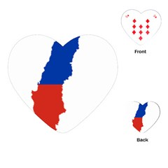 Flag Map Of Chile  Playing Cards (Heart)