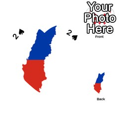 Flag Map Of Chile  Playing Cards 54 (heart)