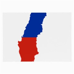 Flag Map Of Chile  Large Glasses Cloth