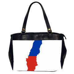 Flag Map Of Chile  Office Handbags (2 Sides)