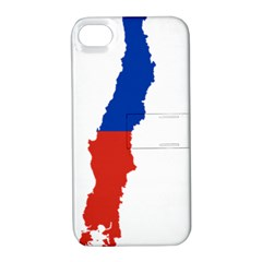 Flag Map Of Chile  Apple iPhone 4/4S Hardshell Case with Stand