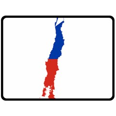 Flag Map Of Chile  Double Sided Fleece Blanket (large)