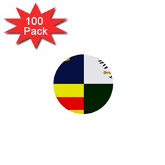 Four Provinces Flag Of Ireland 1  Mini Buttons (100 pack)