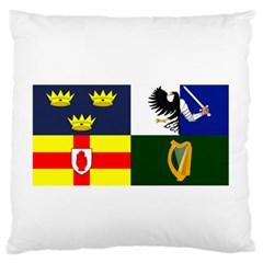 Four Provinces Flag Of Ireland Large Flano Cushion Case (Two Sides)