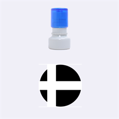 Flag Of Puerto Rican Independence Party Rubber Round Stamps (small)