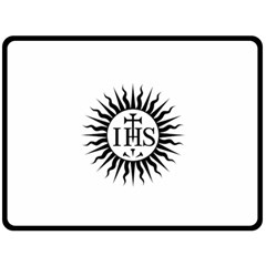 Society Of Jesus Logo (jesuits) Double Sided Fleece Blanket (Large)