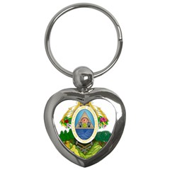 Coat Of Arms Of Honduras Key Chains (Heart)