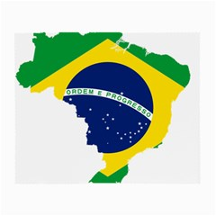 Flag Map Of Brazil  Small Glasses Cloth