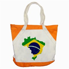 Flag Map Of Brazil  Accent Tote Bag