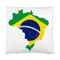 Flag Map Of Brazil  Standard Cushion Case (Two Sides)