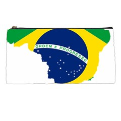 Flag Map Of Brazil  Pencil Cases