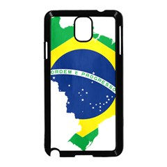 Flag Map Of Brazil  Samsung Galaxy Note 3 Neo Hardshell Case (Black)