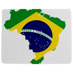 Flag Map Of Brazil  Jigsaw Puzzle Photo Stand (rectangular)