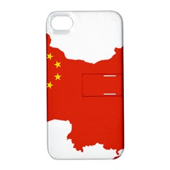 Flag Map Of China Apple iPhone 4/4S Hardshell Case with Stand