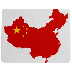 Flag Map Of China Jigsaw Puzzle Photo Stand (Rectangular)