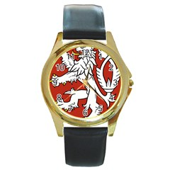 Bohemia Coat Of Arms  Round Gold Metal Watch